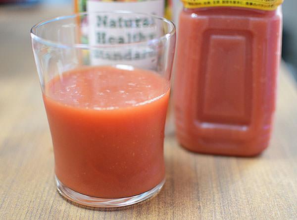 ミネラル酵素ドリンクのトマトジュース割り