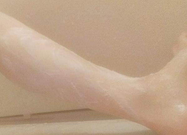 日本酒風呂のお湯で体を洗ってみた