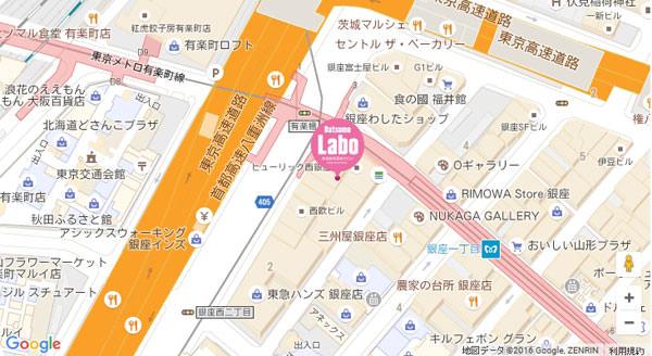 脱毛ラボ 銀座二丁目店の地図