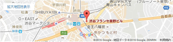 渋谷ヒカリエ前店地図