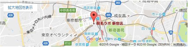 脱毛ラボ 新宿店の地図
