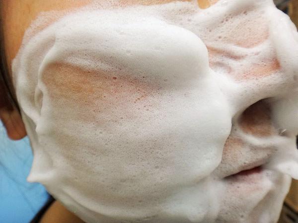 草花木果 竹「洗顔ミルク」の肌感触