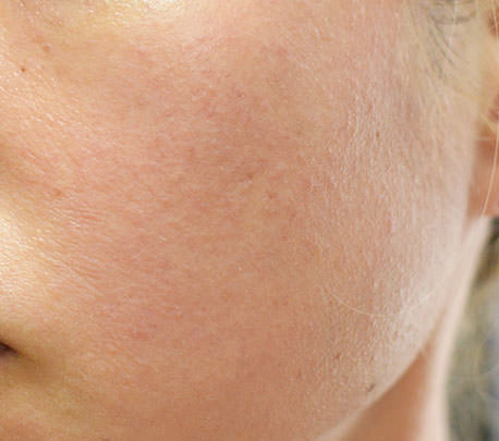 草花木果「化粧下地」を頬に塗ってみた