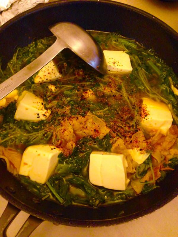 豚肉と豆苗の辛味ダイエットスープ