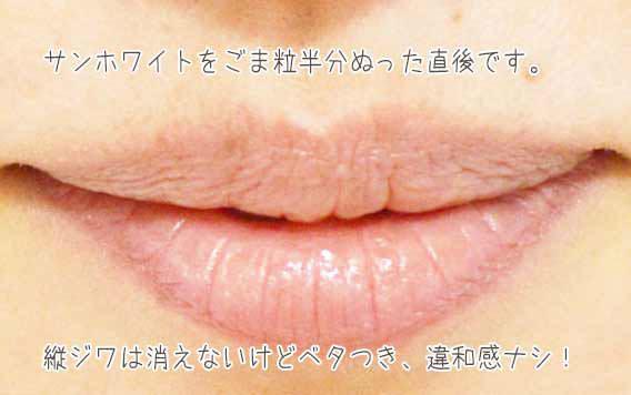 リップクリーム代わりにワセリンを唇に塗る